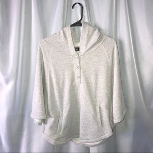 Forever 21 grey dolman poncho style hoodie